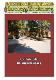 Gemeindezeitung September 2012 - Stadtgemeinde Marchegg