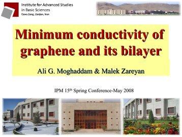 Minimum conductivity of graphene and its bilayer