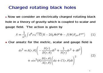 Charged rotating black holes