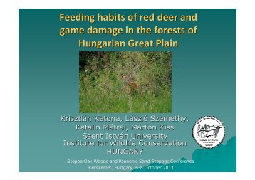 Feeding habits of red deer and game damage in the forests of ...