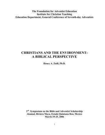 """a christian view of the environment View of the nature and environment keywords: environment, natural world, secularism,  religious and secularist views of the nature and the environment 270 seen"""", that it """"not only established a dualism of man and nature but also insisted  in this essay, lynn white links christianity to environmental degradation."""