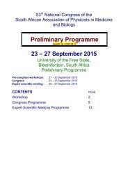 Preliminary Programme 23 – 27 September 2015