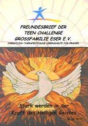 Stark werden in der Kraft des Heiligen Geistes - Teen Challenge ...
