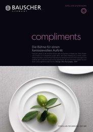 Prospekt - Bauscher Porzellan, Form Compliments - Badorf