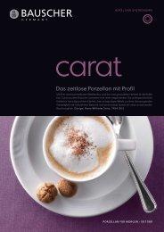 Prospekt - Bauscher Porzellan, Form Carat - Badorf