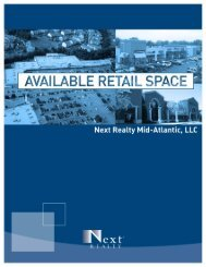 Page 1 Page 2 AVAILABLE RETAIL SPACE Collington Plaza Bowie ...