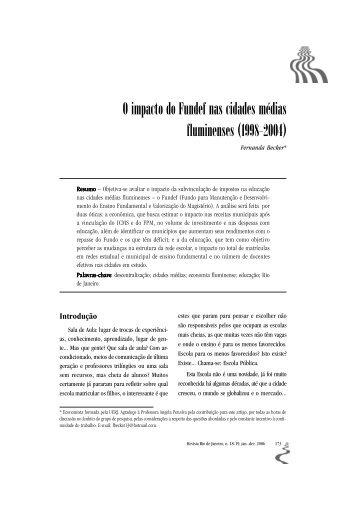 O impacto do Fundef nas cidades médias fluminenses (1998–2004)