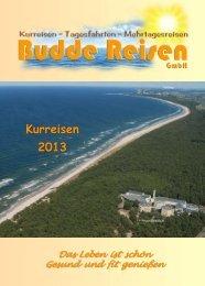 Kurreisen 2013 - Budde Reisen GmbH
