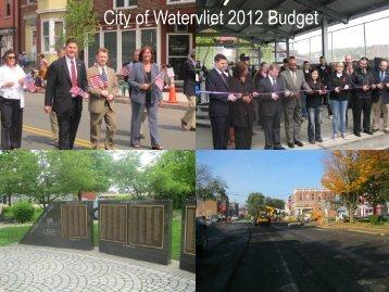 City of Watervliet 2012 Budget