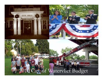 2010 City of Watervliet Budget