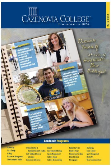 Cazenovia College 2012-2013 Academic Catalog