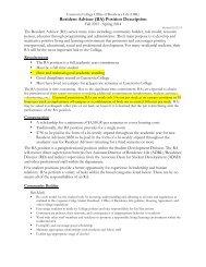 Resident Advisor (RA) Position Description
