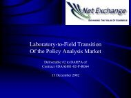 Laboratory-to-Field Transition Of the Policy Analysis Market