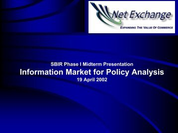 Information Market for Policy Analysis