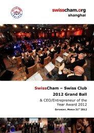 SwissCham – Swiss Club 2012 Grand Ball