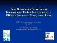 Using Groundwater Protectiveness Demonstraton Tools