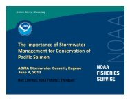 The Importance of Stormwater Management for Conservation of Pacific Salmon