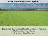 ACWA Biosolids Workshop April 2013