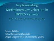 DEQ Presentation on Methyl Mercury