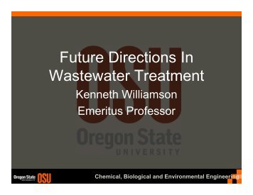 Future Directions In Wastewater Treatment
