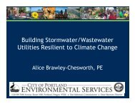 Building Stormwater/Wastewater Utilities Resilient to Climate Change