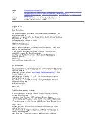 August 16, 2012 Dear Committee, On behalf of Oregon Sea Grant ...