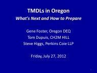 TMDLs in Oregon