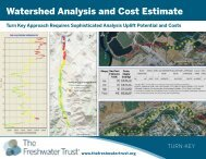 Watershed Analysis and Cost Estimate