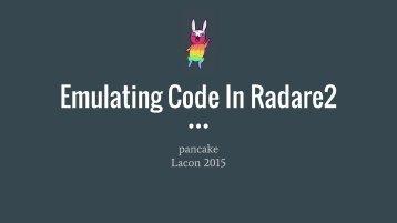 Emulating Code In Radare2