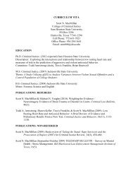 Curriculum Vitae (PDF) - Sam Houston State University - College of ...