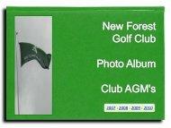 Photo Album - Club AGM's - New Forest Golf Club