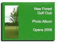 120th Club Anniversary Ladies Open 16th June 2008