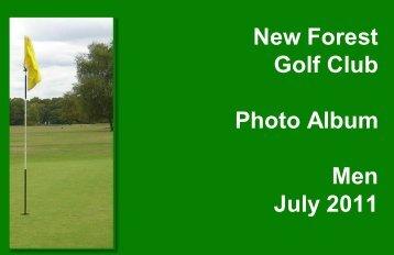 New Forest Golf Club Photo Album Men July 2011