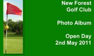 New Forest Golf Club Photo Album Open Day 2nd May 2011