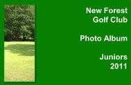 Photo Album -Juniors - Jan-July 2011 - New Forest Golf Club