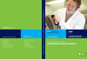 Programm Wintersemester 2012 / 13 - Zentrum für Weiterbildung ...