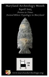 Maryland Archeology Month April 2013