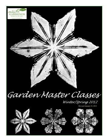 Garden Master Classes