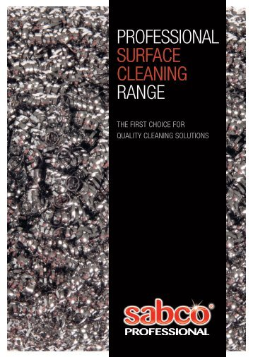 PROFESSIONAL SURFACE CLEANING RANGE