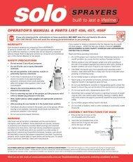 Operator's Manual & Parts List 456 457 456F