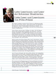 3 Liebe Leserinnen und Leser der Schweizer Illustrierten Liebe - Nicky
