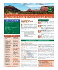 Recreation Guide to Your National Forest - Red Rock Country