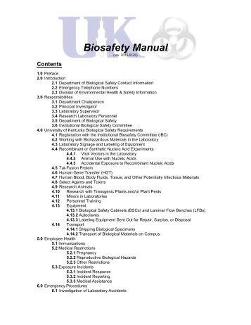 Biosafety Manual
