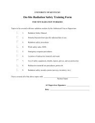 On-Site Radiation Safety Training Form