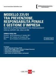 MODELLO 231/01 TRA PREVENZIONE RESPONSABILITÀ PENALE E GESTIONE D'IMPRESA