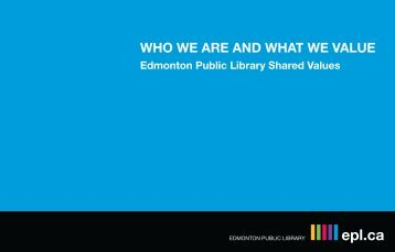 WHO WE ARE AND WHAT WE VALUE