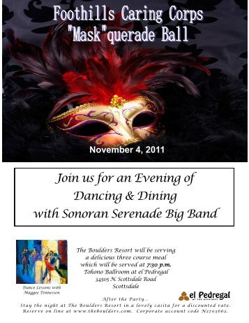 Join us for an Evening of Dancing & Dining with Sonoran Serenade Big Band