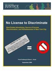 No License to Discriminate - Fair Housing Justice Center