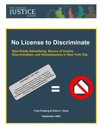 No License to Discriminate - Fair Housing Justice Center