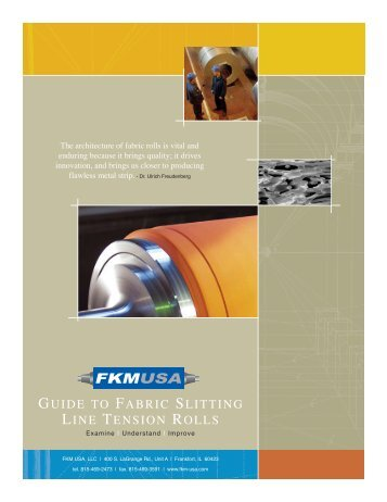 Guide to Fabric Slitting Line Tension Rolls - FKM USA